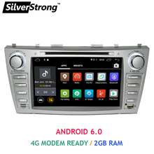 Free shipping 1024*600 2Din Android6.0 2GB RAM Car DVD For TOYOTA CAMRY AURION v40 2007-11 auto radio with 4G google play