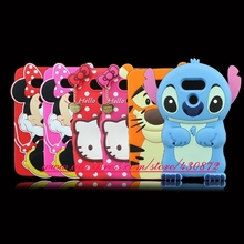 Cute 3D Silicon Stitch Minnie Pig Cupcake Kitty Lip Cartoon Soft Cell Phone Back Skin Cover Case for LG G5 H850 H840 5.3 INCH