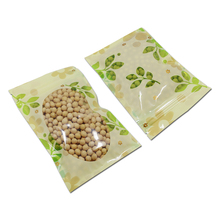 200Pcs Plastic Zipper Bag Food Packaging With Window Ziplock Zip Lock Resealable Tea Dried Fruit Flower Coffee Beans Pouch