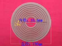 2 piece OD: 150mm Voice coil hole 35.5mm Best Subwoofer Bass speaker repair spider elastic wave(China)
