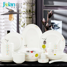 head of household porcelain garland birds'twitter and fragrance of flowers tableware kitchen dishes combined bone china