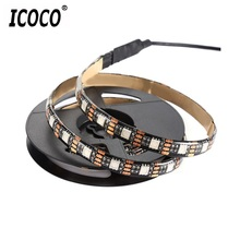ICOCO USB Interface TV Background Light USB5V 5050RGB IP65 Waterproof Tape Light Bright Stage Decoration Light Strip Light(China)