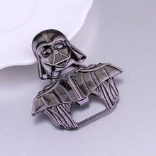 Cartoon Portable Aluminum Star Wars Darth Vader Opener Multifunction kitchen beer opener Creative Gift decoration(China)