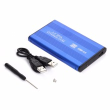 High Speed 2.5inch USB 2.0 HDD Case Hard Drive SATA External Enclosure Box for PC Computer Laptop Notebook(China)