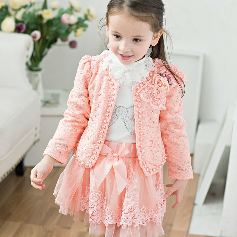 2017 kids girls winter flower princess Baby dress  teenagers clothes  party dresses performance clothing children prom gown<br>