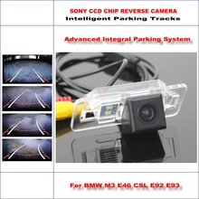 Rear Camera For BMW M3 E46 CSL E92 E93 Intelligent Parking Tracks Backup Reverse / 580 TV Lines Dynamic Guidance Tragectory