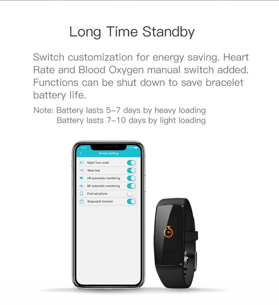 Colorful Smart Wristband Bracelet Activity Track Heart Rate Monitor Blood Pressure Smart Band for Samsung Galaxy On5 On7 A9 A8