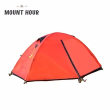 Mount Hour Single Hiking Tent 20D Silicone Fabric Light Backpacking Double Layers Aluminum Rod Camping Cycling Tent 4 Season(China)