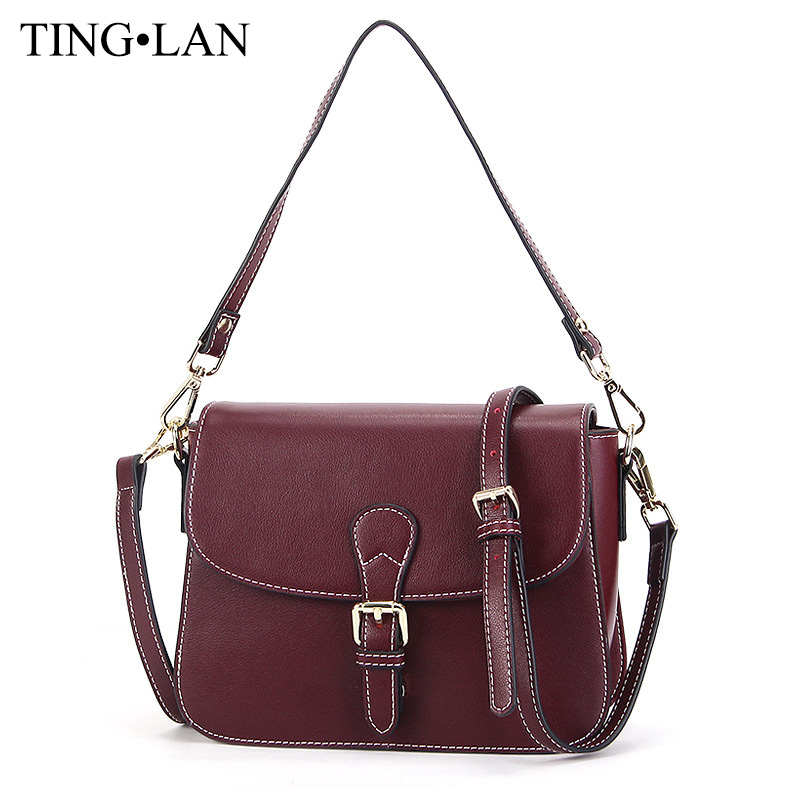 Fashion Small Bag Women Messenger Bags Famous Brand Genuine Leather Shoulder Crossbody Bags For Women Cowhide Handbags Vintage<br><br>Aliexpress