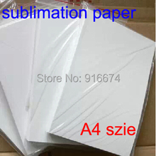 Free shipping Cheap High quality 100 sheets A4 tansfer paper sublimation paper For mug glass rock for heat press machine(China)
