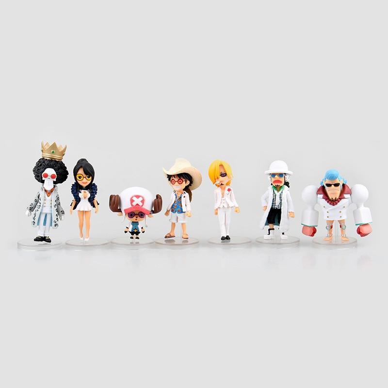 Anime Figurine Action Figure One Piece Monkey D Luffy Tony Chopper Franky Brook Sanji Usopp PVC Doll Model Toy 8cm 7pcs/set<br><br>Aliexpress