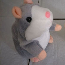 New Talking Hamster Mouse Pet Plush Toy Hot Cute Speak Talking Sound Record Hamster Educational Toy for Children Gift(China)