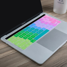 "US Enter English Rainbow Keyboard Silicone Cover for Macbook Pro 13"" and MacBook Pro 15"" A1706 A1707 with Multi-Touch Bar"