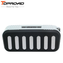 TOPROAD Multimedia Mini HIFI Bluetooth Speaker with Stereo FM AUX TF U-DISK Mic Wireless Super Bass Subwoofer Boombox Speakers