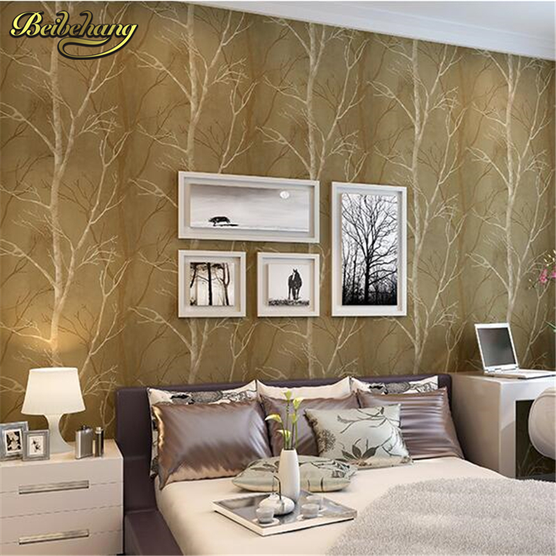 beibehang papel de parede roll natural design tree Forest textured wallpaper wall covering woods paper background home decor<br>