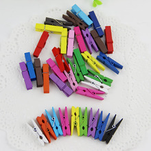 10pcs Random Mini Colored Spring Wood Clips Clothes Photo Paper Peg Pin Clothespin Craft Clips Party Decoration(China)
