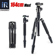 E306 Professional Travel tripod monopod Compact Aluminum camera stand Panoramic Ball Head for DSLR Camera Better than Q999 Q999S
