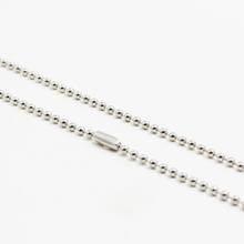 24 pcs/lot High Quality Silver Ball Bead Necklace 2mm*60cm Stainless Steel Round Beads Chain Necklaces For Men Women Jewelry(China)
