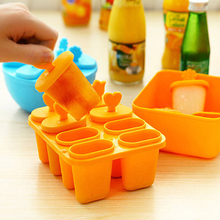 Ice Cream Mold Set Form For Ice Popsicle Stick With Bowl Kitchenware Refrigerator Accessories Creative Tray DIY Tool Gift