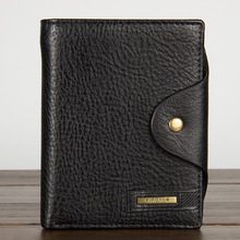 Men's luxury brand Piroyce original leather wallet for card holder vintage designer Purse with coins bag and driver license case(China)