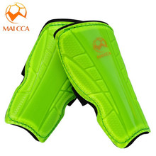 MAICCA Quality children Soccer Shin Guard 2017 New Arrival Leg Protector Football Shin Pads Custom Support Soccer Shinguards(China)