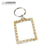 GUH 10pcs/lot Modern Mini Transparent Portable Photo Frame Rectangle Blank Plastic Keychain Frame For Small Inch Photo(China)