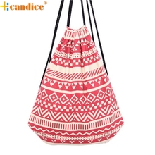 Hcandice Best Gift Hcandice Hot Selling Unisex Retro Geometric Backpacks Printing Bags Drawstring Backpack High Quality bea61019