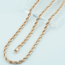 1pcs 5mm 69cm Maxi Necklace Men Women Gold 585 Plated Rope Chains Promotions Cheap Jewelry(China)
