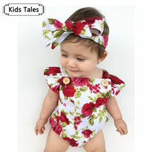 Children Clothes Set Girl Clothes Summer Frilly Halter Sliders Bodysuits + Headbands Outfits Toddlers SR164