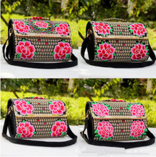New Multi-use Shopping Handbag!Hot Floral Embroidered Women Traveller Shoulder&Handbags Top All-match Lady Zipper&Hasp Carrier(China)