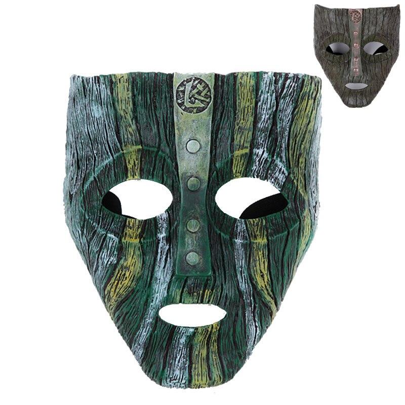 Halloween Edition Movie Theme God Loki Resin Mask  Masquerade Party Magic Mask 650g Practical Joke Toys<br>