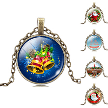 2017 glass pendant necklace father christmas day gift Santa Claus antique turkish ottoman jewelry(China)