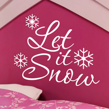 hot sale Snow Christmas Wall Decal Snowflake Wall Decal Lettering Vinyl Windows Removable Lining Waterproof