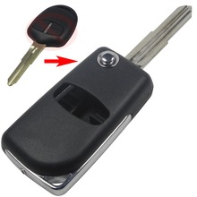 2 Buttons Blank Modified Flip Folding Remote Key Case Shell Cover For Mitsubishi Outlander With Right blade s534(China)