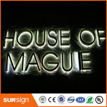taobao gold supplier flat stainless steel backlit LED sign(China)