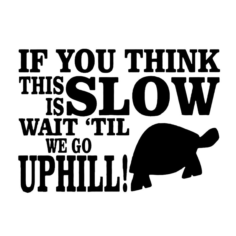 """sticker or decal Slow driver safety This is a /""""SLOW MOVER/"""" turtle vinyl cut!!"""