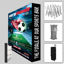 10ft Portable Tension fabric straight Trade show Display Pop Up Stands booth backdrop wall with custom graphic printing