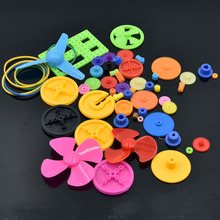 55pcs Colorful Mixed Plastic Gear Motor Gear Gearbox Robot Ship Car Aircraft RC Plane DIY Model Craft Experiment Repair Tool(China)