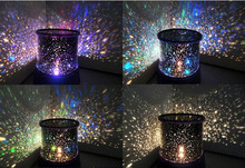 Amazing Flashing Colorful Sky Star Master Night Light Lovely Sky Starry Star Projector Novelty Gifts Free Shipping(China)