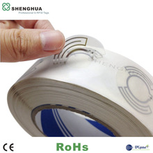 860mhz-960mhz em4100 Disc RFID Tag Round Size Paper Roll Label