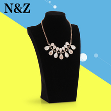 Wholesale-portable 29cm Velvet Pendant Necklace Jewellery Display Stand jewelry holde rack()