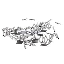 100 Pieces Single Barrel Crimp Sleeves, 100% Copper, Fishing Line Leader Rigging Tackle Wire Rope Clips Tube Connector 8mm