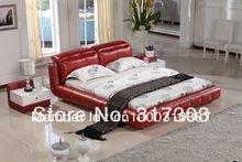 bedroom furniture leather bed, soft bed, 1.8 kingsize bed, factory wholesale price offered, sea shipment  modern design H8069