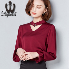 Buy fashion women clothing hollow stitching chiffon blouse 2017 spring new chiffon shirt elegant Lotus leaf sleeves women tops for $14.26 in AliExpress store