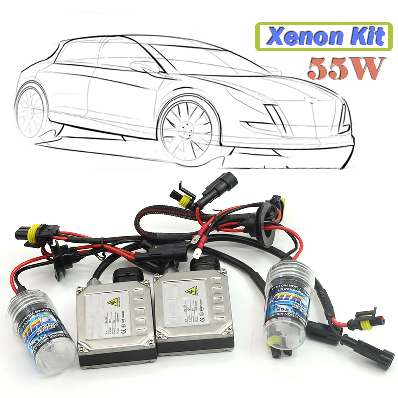 1 Set 55W H7 Xenon Ballast  Bulb HID KIT 4300K-15000K Car Headlight Daytime Driving Lamp Fog Light<br><br>Aliexpress