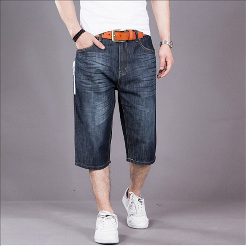 Korean Style Straight Short Jeans Denim Shorts Men Casual Cotton Mens Loose Shorts Big Size 30-50Одежда и ак�е��уары<br><br><br>Aliexpress