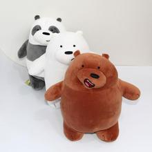 1pc 30cm We Bare Bears Cartoon Bear Stuffed Plush Toy Soft Dolls Grizzly Gray White Bear Panda Doll Child Birthday gift kids toy