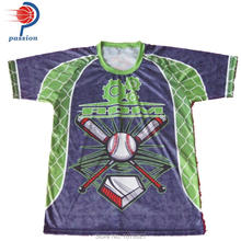 Customize team high quality sublimation baseball t shirt wholesale cheap price(China)