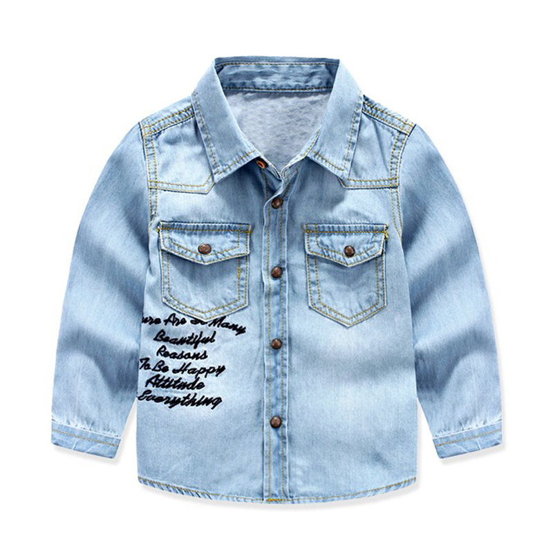 82995be82 Detail Feedback Questions about Boys Denim Shirt Long Sleeve Pocket ...