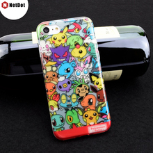 NetDot For iPhone 8 case i8 Pokemons Fundas Pikachus Coque i7 Cartoon Soft Plastic Phone Case Cover For iPhone 7 6 Plus 6s Capa(China)
